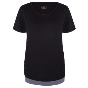 Asquith Yoga Shirt Bend It - Black/Deep Grey